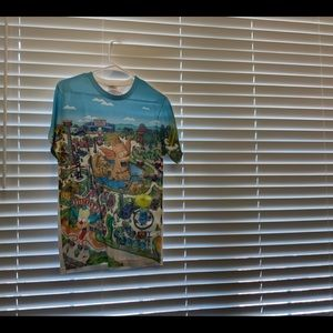 "Universal studios ""krusty land"" shirt"
